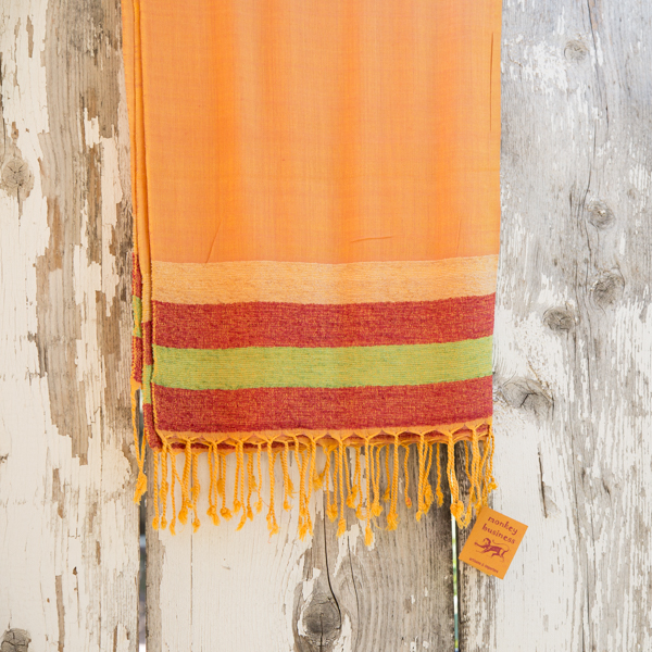 Loom Shawl, Orange